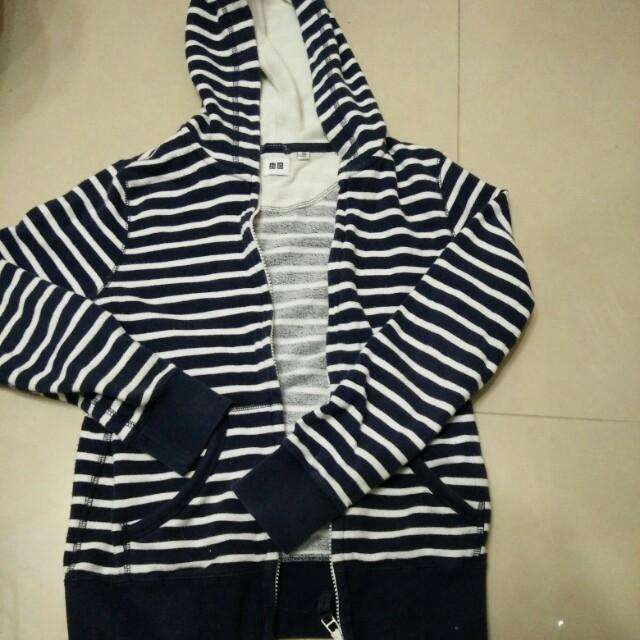 Uniqlo大女童連帽毛巾布外套150公分 #大掃除五折