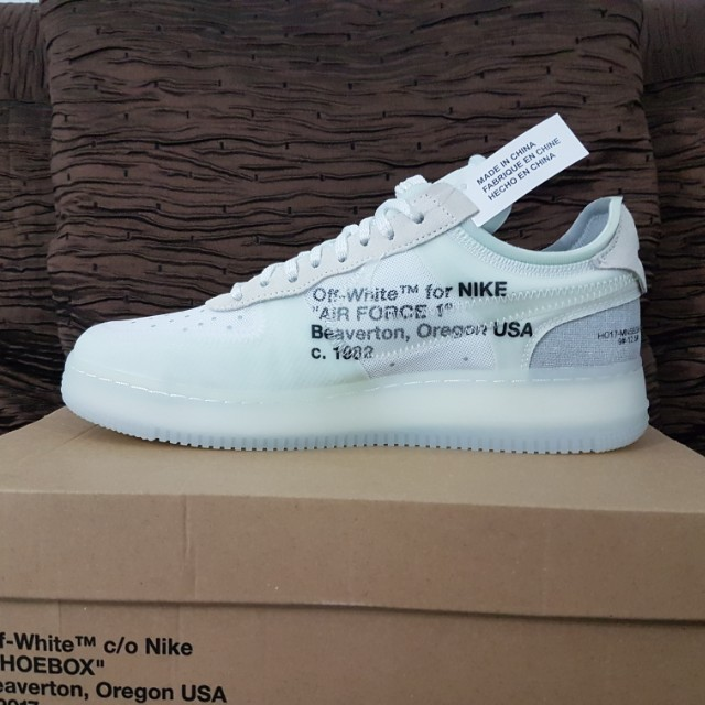 huge selection of 4467d fcd1c US10  UK9 Nike Air Force 1 Low Off-White, Mens Fashion, Foot