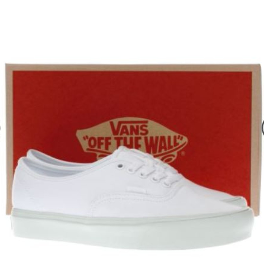 9b1519d5e1e9f vans white & green authentic lite trainers, Women's Fashion, Shoes ...