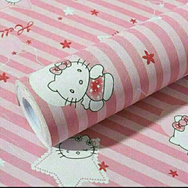 Wallpaper Hello Kitty Garis Home Furniture On Carousell