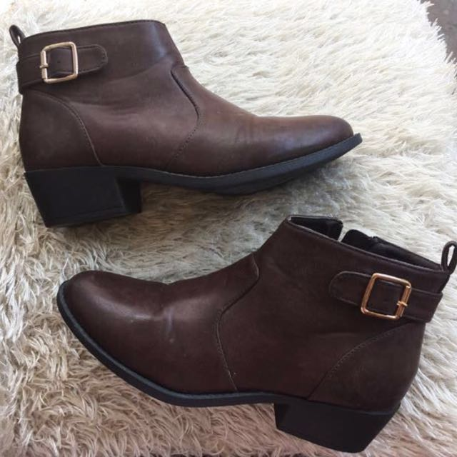 Wanderland Festival Leather Brown Boots