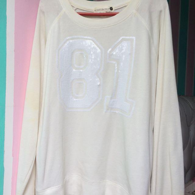 White 81 sweater