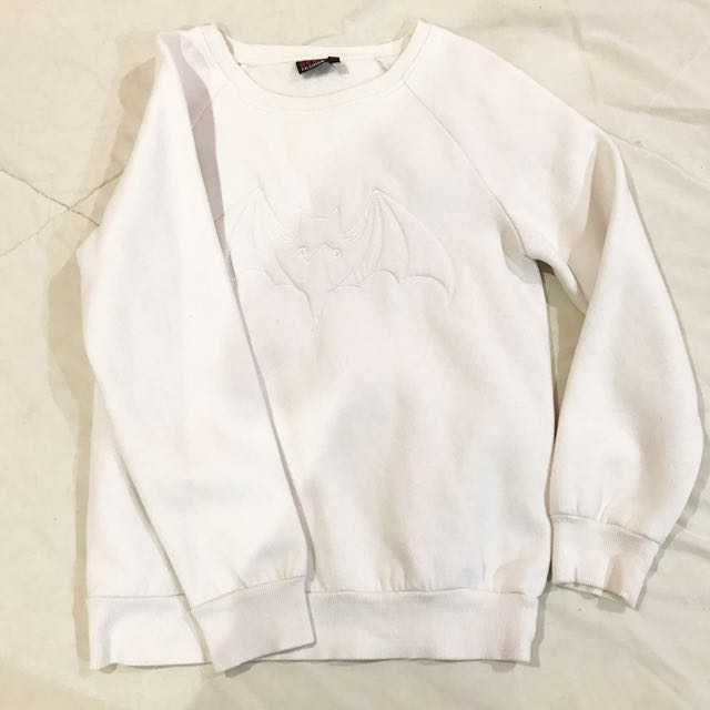 White Bad Man Sweater