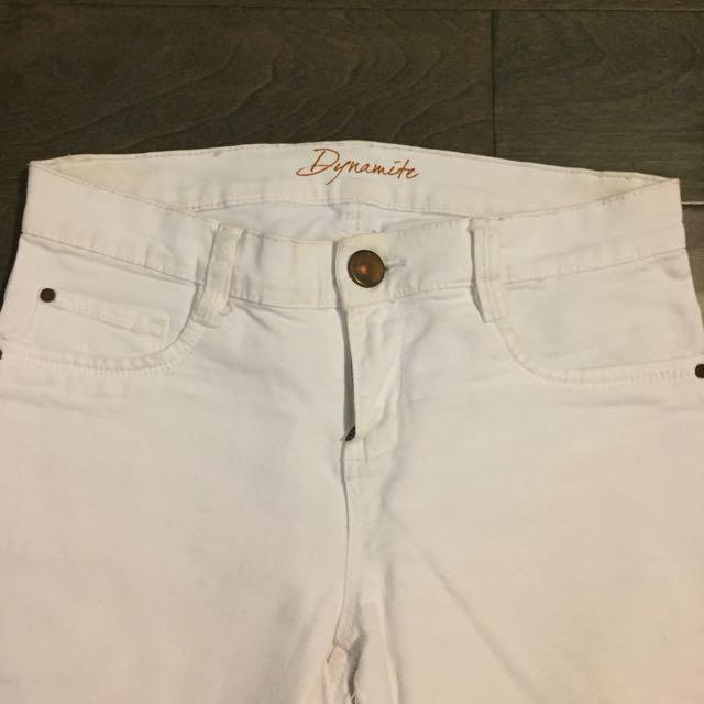 White Dynamite Skinny Jeans
