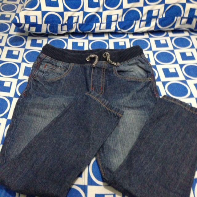 Zara Drawstring Denim Pants