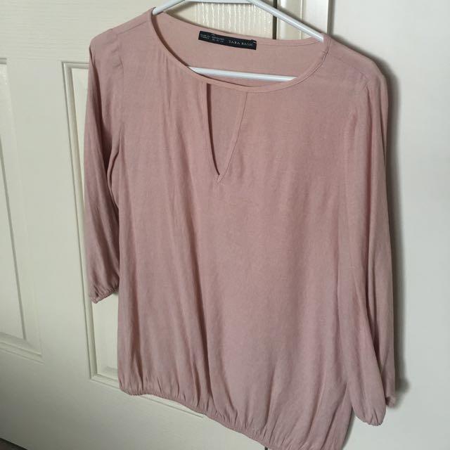 ZARA Size XS 3/4 Sleeve Top