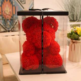 Bear Made of Flower Giant large huge big teddy bear rose flower bear toys Valentine Xmas gift