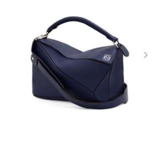 Loewe small size puzzle bag navy