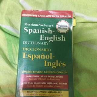 Spanish-English Meriam Dictionary