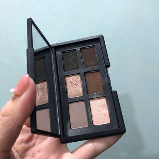 Nars swatched only eyeshadow palette and god created the woman