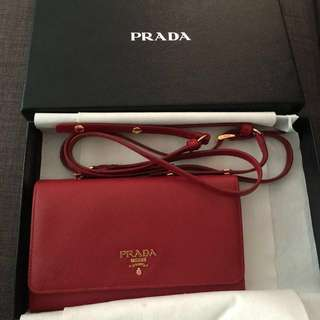 Prada wallet (small bag) 長銀包 可咩上身 wallet on shoulder