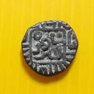 1 Jital - Jalal al-Din Firuz 689-695 (1290-1296) Billon – 3.46 g – ø 16 mm - bi30 - - Beautiful vintage Billion Coin Medieval Islamic Persian ( 600 - 1000 Years old ) DELHI SULTAN  india