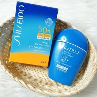 6折 Shiseido Perfect UV Protector HydroFresh WetForce SPF 50+ 資生堂 全天候防曬乳霜 SPF50+ PA++++ 50ml