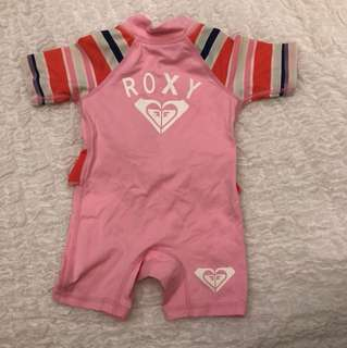 Roxy Pink UVtech Swimsuit Size 00, 6 months