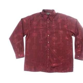 Vintage Art Deco Satin Shirt