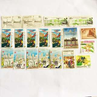 Promotion Lot:S'pore Old Stamps