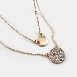 Dual Layer Dainty Short Necklace