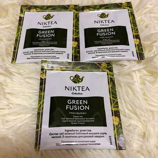 🔴(3pcs)Niktea - Green Fusion Teabags