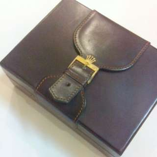 Rolex Leather Watch Box With Buckle