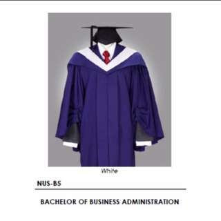 NUS BBA Gown and Mortarboard