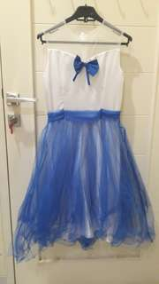 Dress Cute White Blue Tile