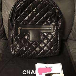Chanel classic backpack, 99% new 100% authentic