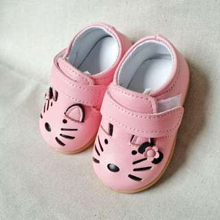Cute Pink Dog Baby Shoes
