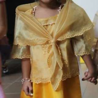 Filipiniana Costume for 5-6yrs old