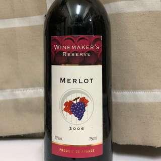 winemarker's reserve merlot 紅酒 2006