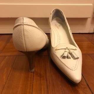Brooks Brothers White Heels 白色高跟鞋 1.5寸