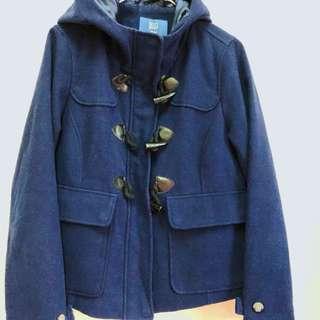 寶藍色牛角外套