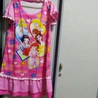 BABY CLOTHES DISNEY LONG COOLING GIRL PRINCESS SLEEPING DRESS FOR 8-9YEARS.