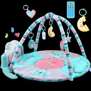 Baby Play Mat with musical toys and foot stepper piano