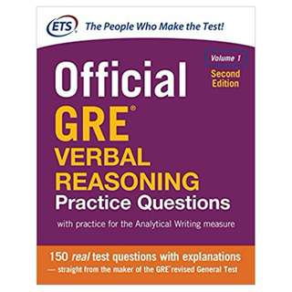 Official GRE Verbal Reasoning Practice Questions, Second Edition, Volume 1 2nd Edition, Kindle Edition by Educational Testing Service  (Author)