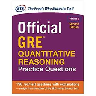 Official GRE Quantitative Reasoning Practice Questions, Second Edition, Volume 1 2nd Edition, Kindle Edition by Educational Testing Service  (Author)