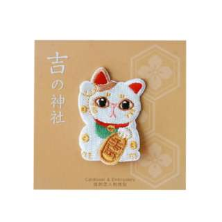 Last 1 Instock! (Mix & Match)*Japan Fortune Cat Embroidery Iron On Patch