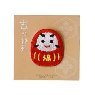 (Mix & Match)*Japan Daruma Doll Embroidery Iron On Patch