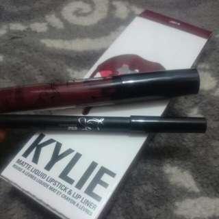 Kylie Matte Liquid Lipstick With Lip Liner