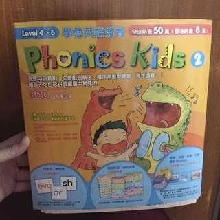 Phonics kids 2 level4-6(全新)