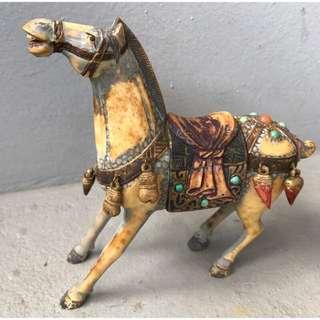 🚚 老 獸骨彫馬 - 精雕生動、稀少讓藏