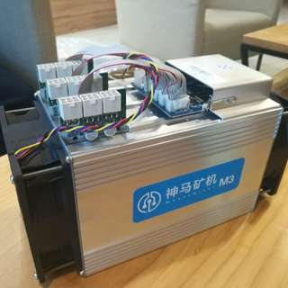 12TH WhatsMiner M3 bitcoin miner (close to antminer s9)