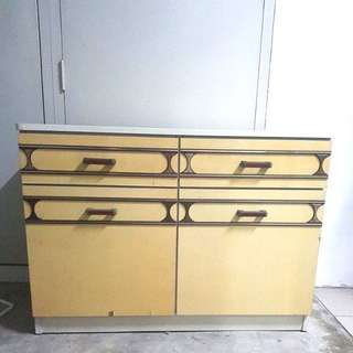 Vintage double door and drawers cabinet