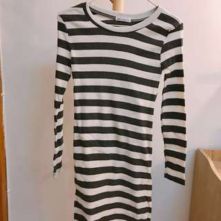 Korea🇰🇷100%new slim stripe dress