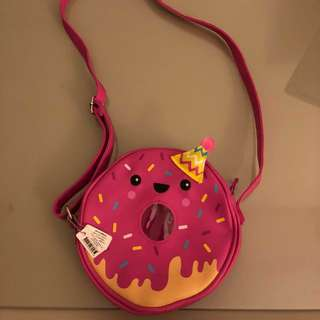 New with tag Smiggle discontinued rare find donut sling bag