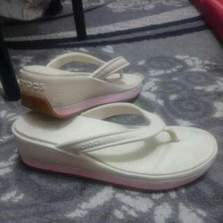 Crocs Slip On Wedge Sandals Rubber