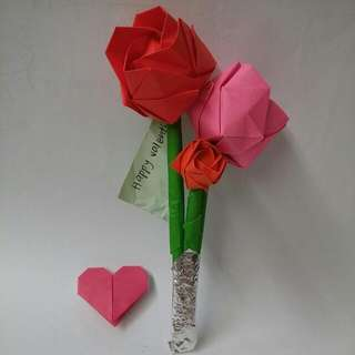 Valentine's Origami Flower Gift