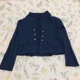 Blue Coat with Studs/Silver Buttons