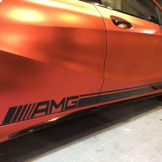 AMG Side Stripe Sticker Decal