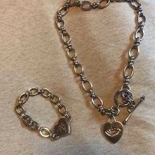 Juicy couture bracelet & necklace 手鏈頸鏈