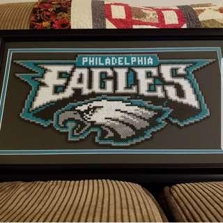 Hama beads design Team Eagles Philadelphia football
